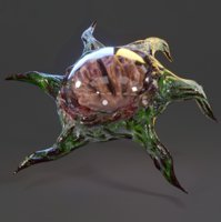 brain monster 3D model