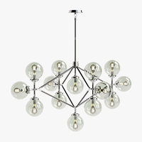 visual bistro arm chandelier 3D model