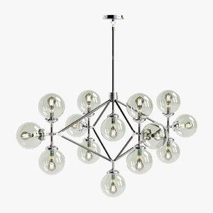 visual bistro arm chandelier 3D model
