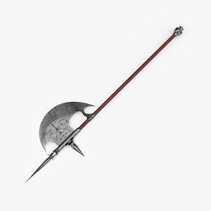 halberd weapon 3D model
