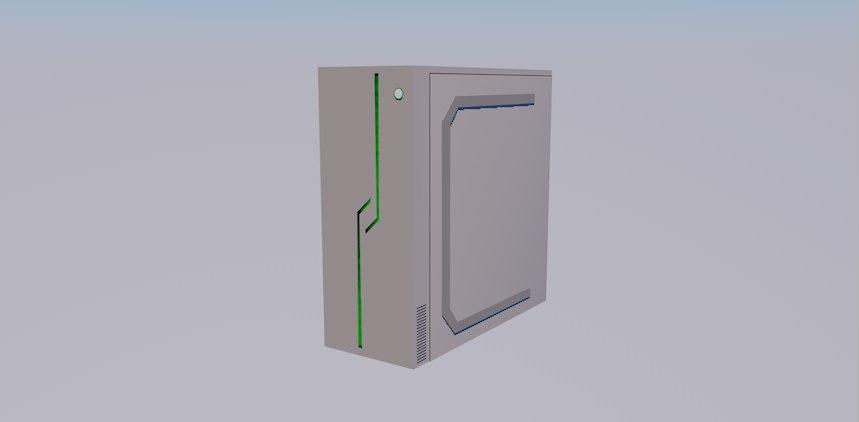 3D modern computer case