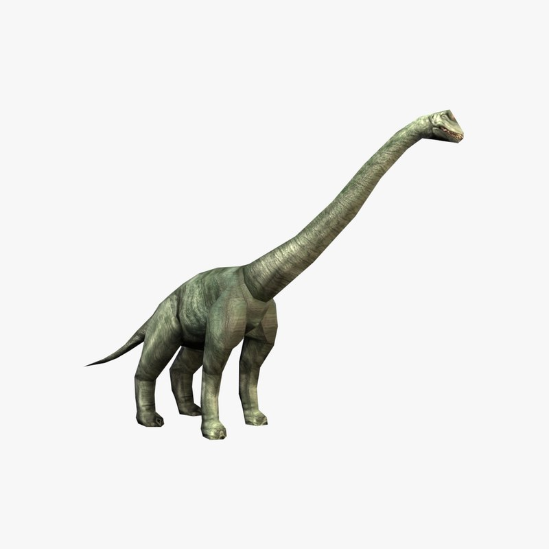 3D brachiosaurus character model