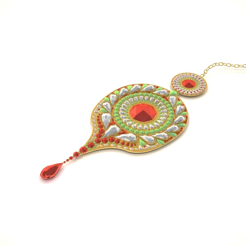 indian jewelry 3D model