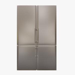appliance fridge liebherr 3D model