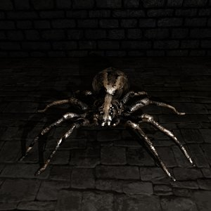 3D spider games rigged model