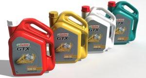 castrol gtx engine oil 3D