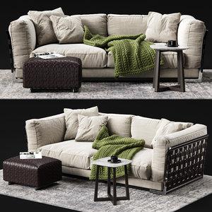 flexform cestone sofa 3D model