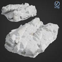 3D model scanned rock cliff g