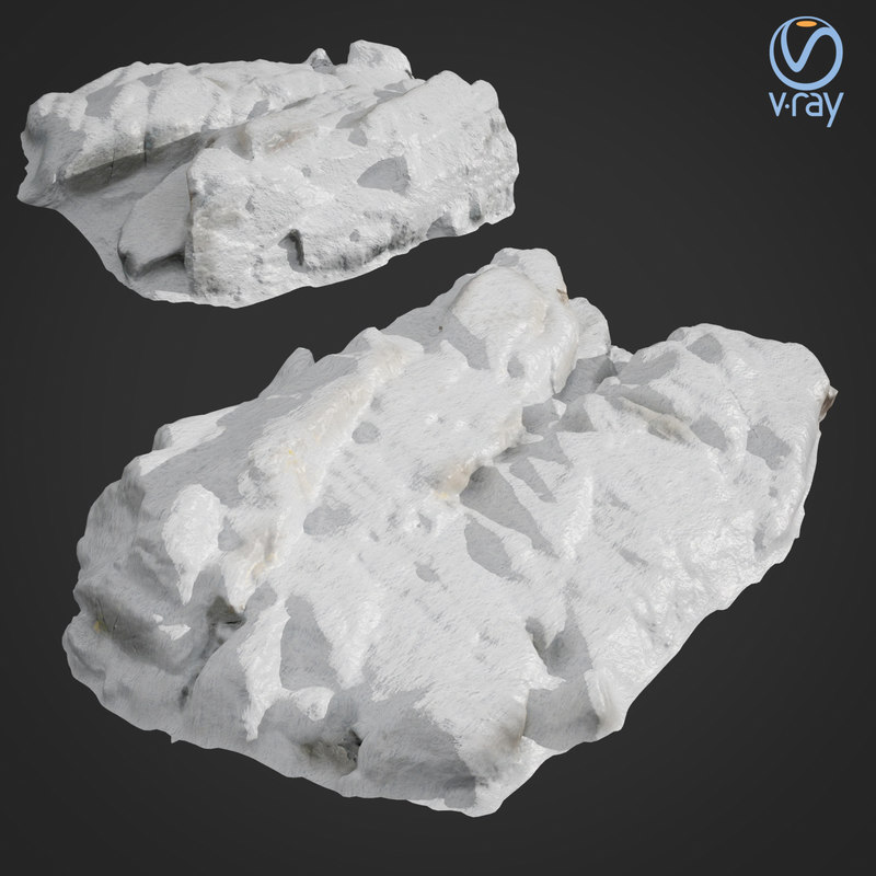 3D model scanned rock cliff g