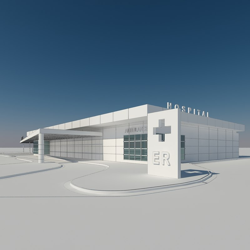 3D access hospital building