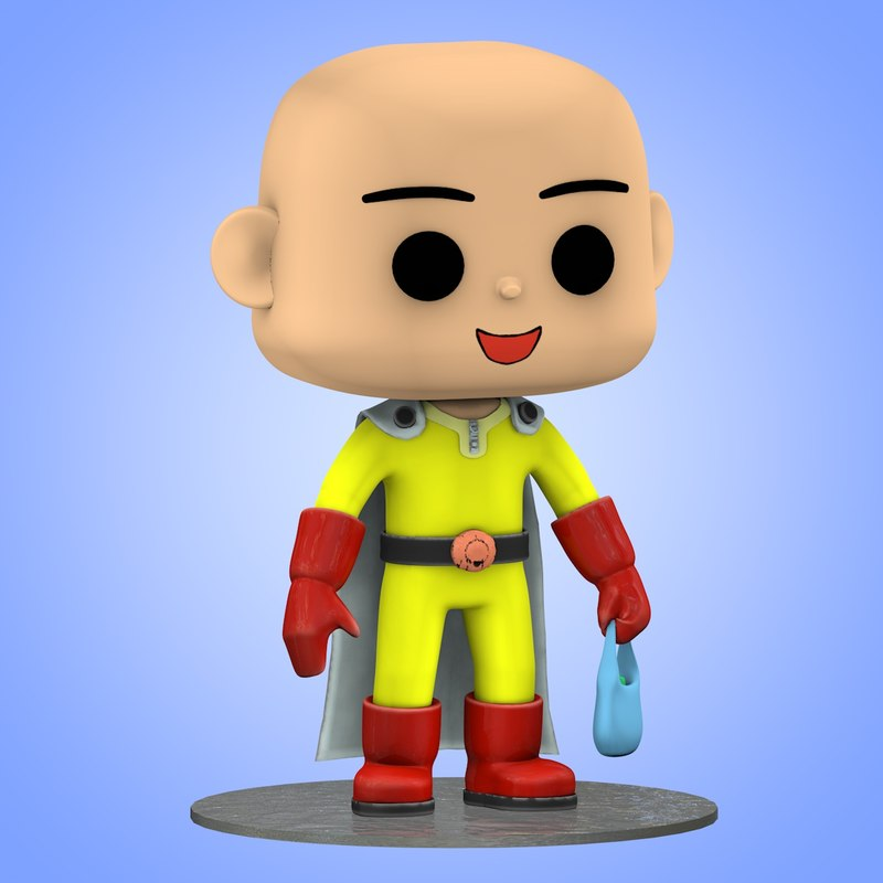 mini saitama punch man 3D model