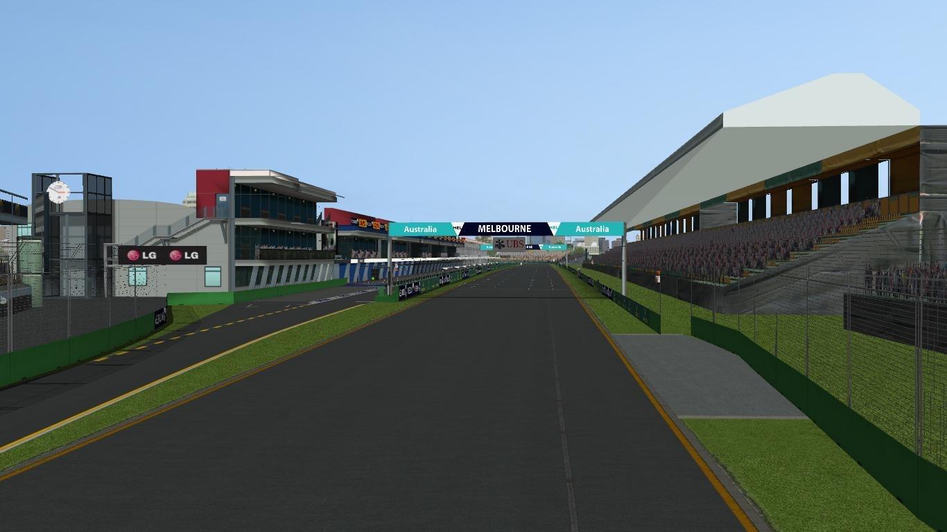 australia melbourne f1 track 3D model