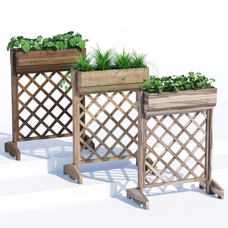raised planter box 3D