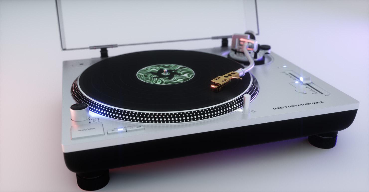 3D octane technics turntable model