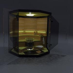 3D model sauna