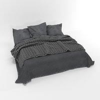 scandinavian bed 3D model