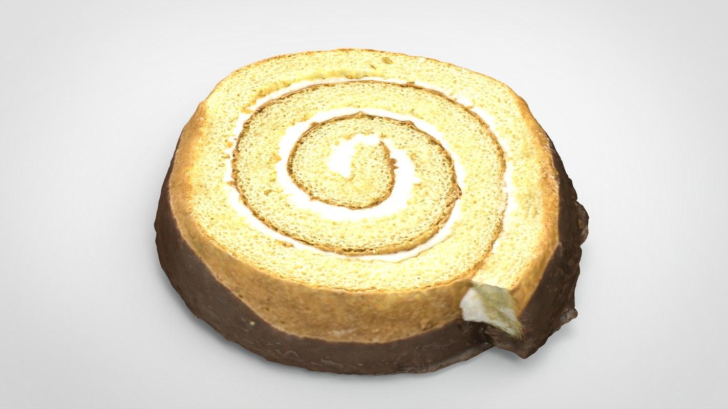 roll cake 3D