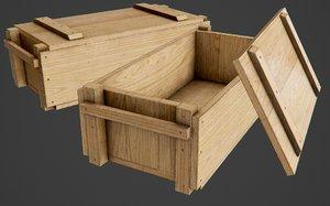 wooden ammo box pbr model
