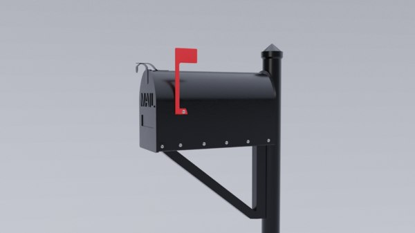 3D box mail mailbox