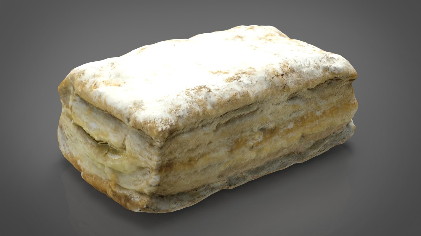 3D puff pastry model