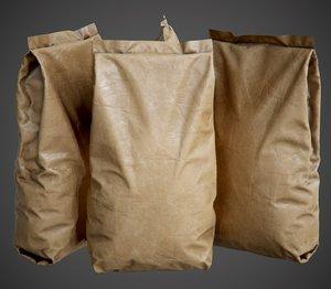 paper bag pbr - 3D
