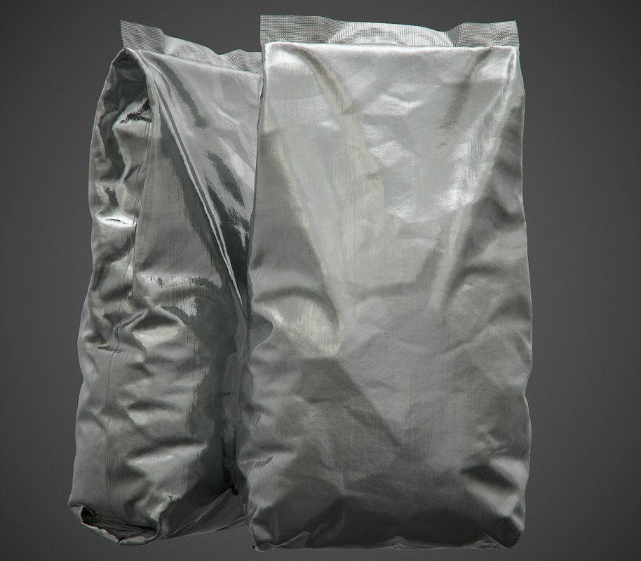 3D foil package pbr - model