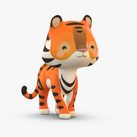 cute cartoon 3D model