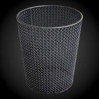 steel wire mesh wastebasket 3D