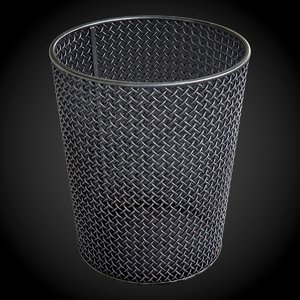 steel wire mesh wastebasket 3D