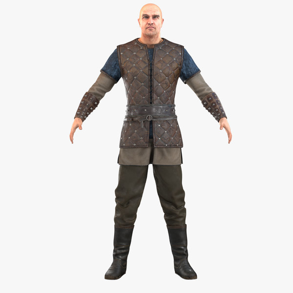viking warrior character 3D model