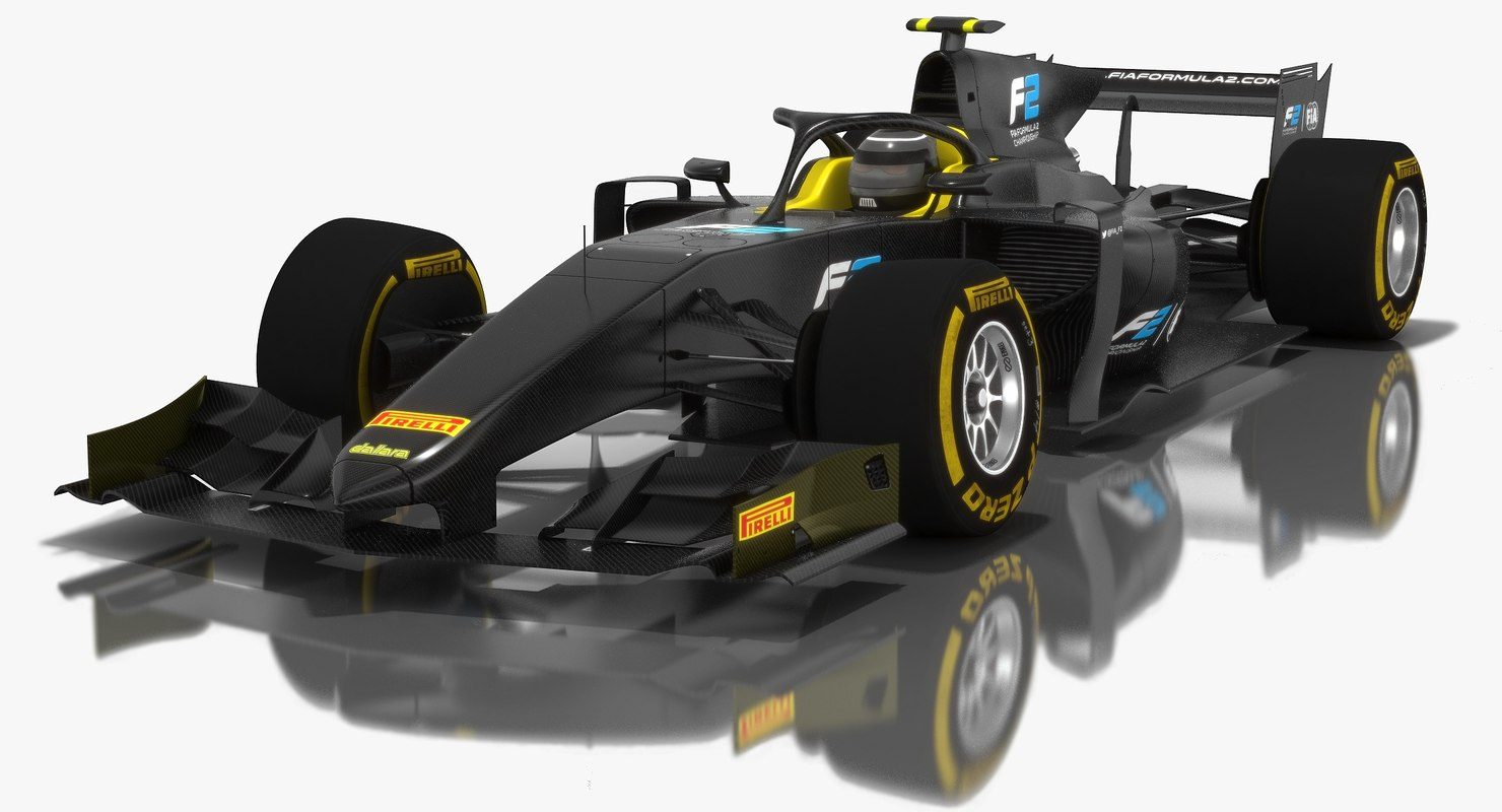 dallara f2 2018 18 3D model