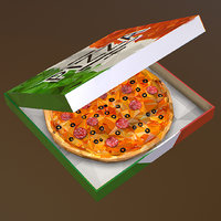 art italian pizza pepperoni 3D model