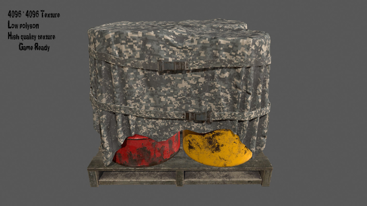 military container barrel 3D model