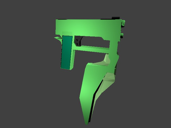 weapon rwby stormflower 3D model