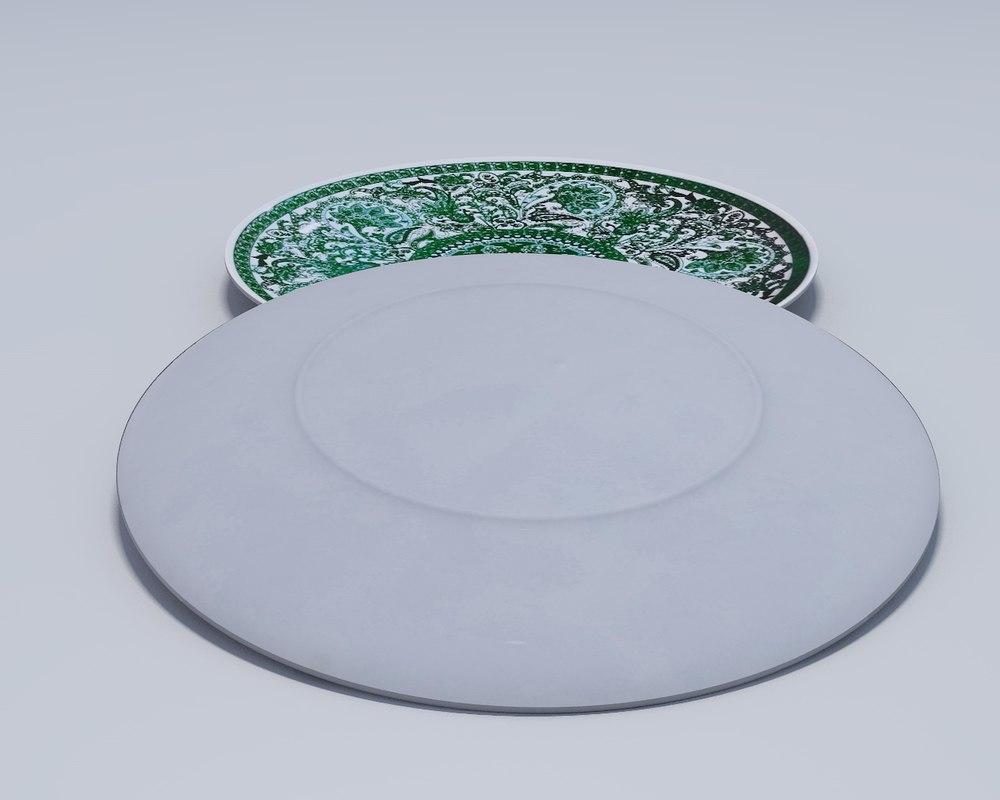 3D plate dish tableware model