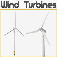 wind turbines 3D model
