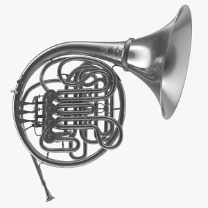 3D model professional double french horn