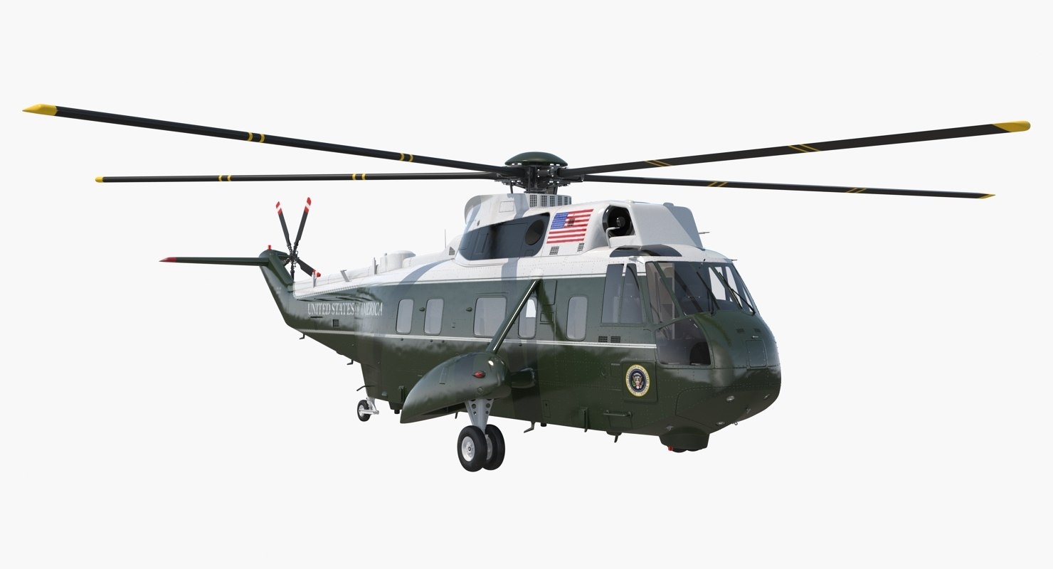 marine hellicopter carrying president 3D