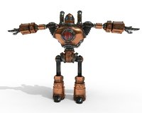 robot steampunk pbr 3D model