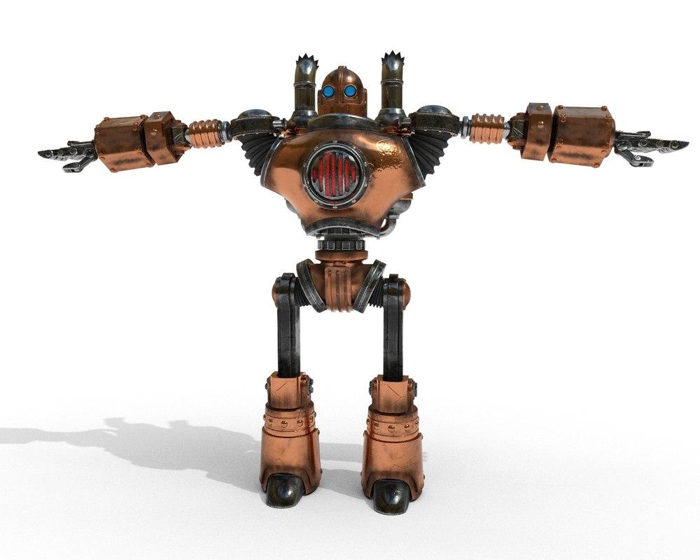 robot steampunk pbr 3D model