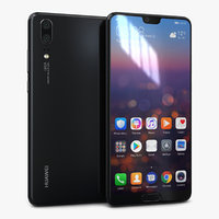huawei p20 black 3D model