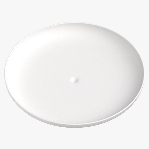 modern tableware dinner plate 3D model