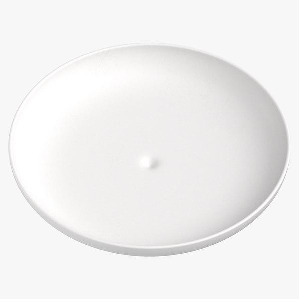 modern tableware salad plate 3D model