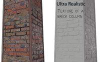 3D brick columns scanned model