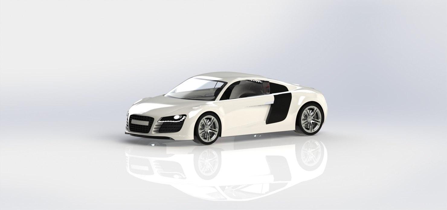 3D sportscar r8 model