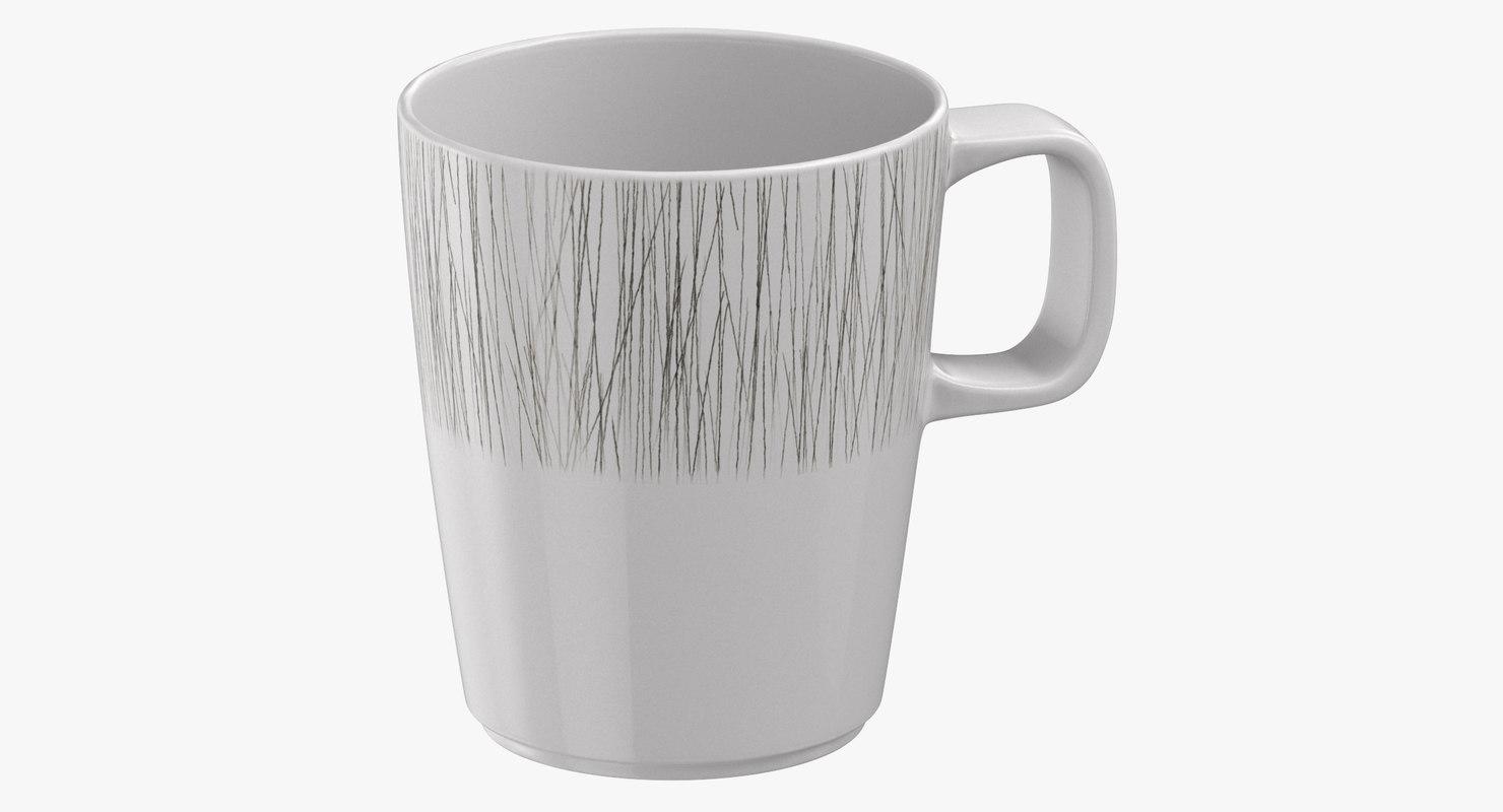 contemporary tableware mug 3D model