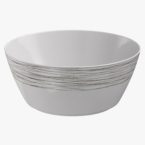 contemporary tableware serving bowl 3D