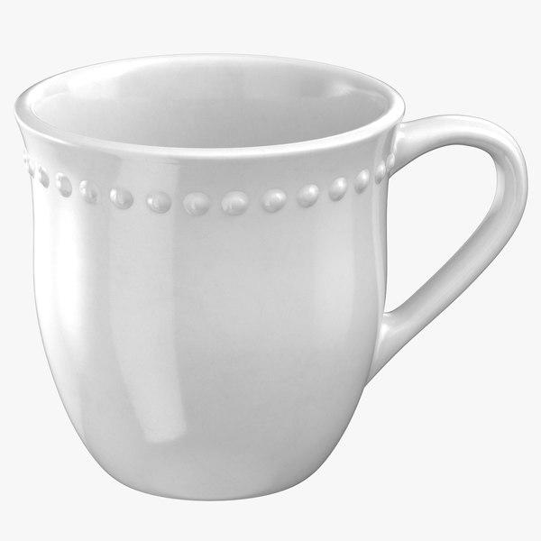 classical tableware mug 3D model