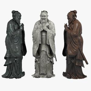statue bronze 3D model