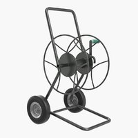 Garden Water Hose Reel Cart 3D Model